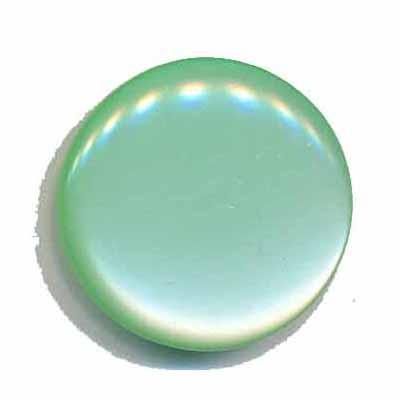 Knoop glans mint groen 25 mm