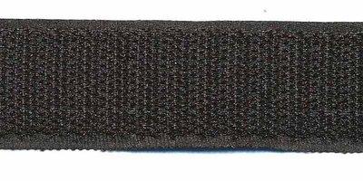 Klittenband 25 mm zwart