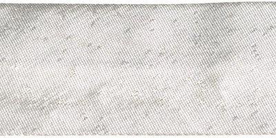 Zilverkleurig gevouwen biaisband 25 mm (ca. 10 meter)