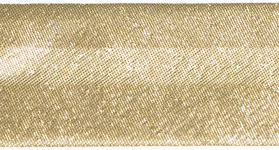 Goudkleurig gevouwen biaisband 25 mm (ca. 10 meter)