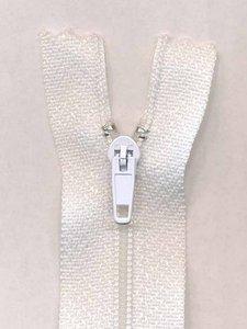 Niet-deelbare rits wit 7.5 cm