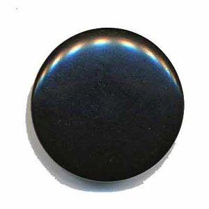Knoop mat zwart 25 mm