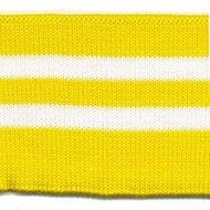Boord geel-wit gestreept
