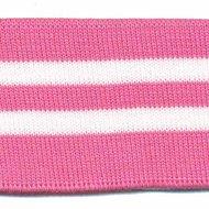 Boord roze-wit gestreept