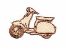Applicatie scooter creme/bruin (5 stuks)