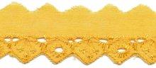 Broderie geel 25 mm (ca. 13,5 m)