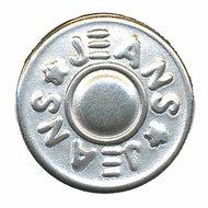 Jeans knoop zilver 16 mm (ca. 25 stuks)