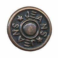 Jeans knoop brons 14 mm (ca. 25 stuks)