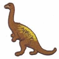 Opstrijkbare applicatie dinosaurus bruin (5 stuks)