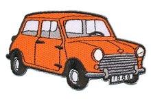 Opstrijkbare applicatie auto 'Mini' oranje (5 stuks)