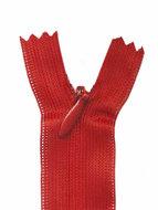 Blinde rits rood #145 22,5 cm (5 stuks)