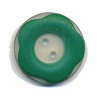 Bloemknoop met opstaande rand groen 25 mm (ca. 25 stuks)