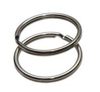 Sleutelring zilverkleurig 25 mm (10 stuks)